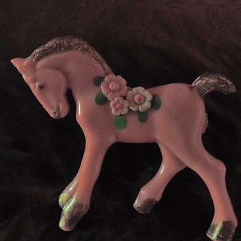 Lucite little pony pin - Costume Jewelry