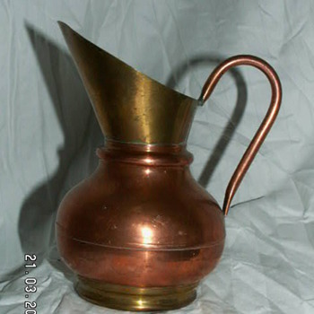 Vintage Flemish Copper Jug ~ Made In Belgium