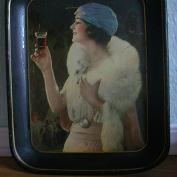 "1925 Coca-Cola ""Party Girl"" tray"