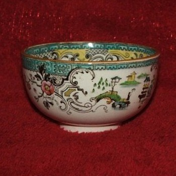 Copeland Spode open sugar bowl sold by T Goode & Co.