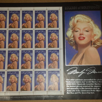 Marilyn Monroe stamp sheet - Stamps