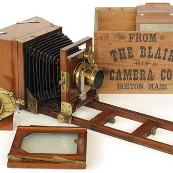Blair Reversible Back Camera with Patent Extension Back, 1880s  90s - Cameras