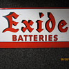 1930&#039;s - 1940&#039;s Exide Batteries Steel Display Rack Advertisement Sign
