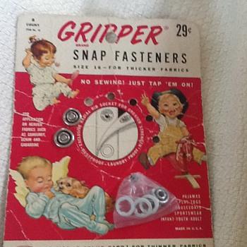 Vintage Gripper Brand Snap Fasteners