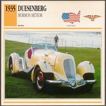 Vintage Car Card - Duesenberg Mormon Meteor - Cards