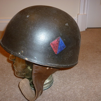 British WW11 steel Dispatch Riders helmet - Military and Wartime