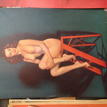 Old Nude Pin-Ups. Unknown Company or Pin-up - Posters and Prints