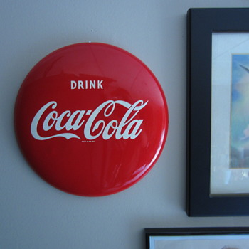 12 inch Coke Button 1950s era