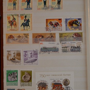 Stamp album #4 theme of the whole world