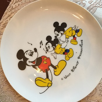 Mickey Mouse plate and cup given to me first birthday 1977