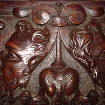 Antique Hand Carved Bracket Shelf