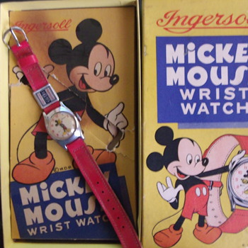 The smaller Ingersoll Mickey Mouse Wrist watch for 1950 - Wristwatches