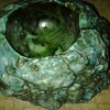 turquoise colored ashtray 