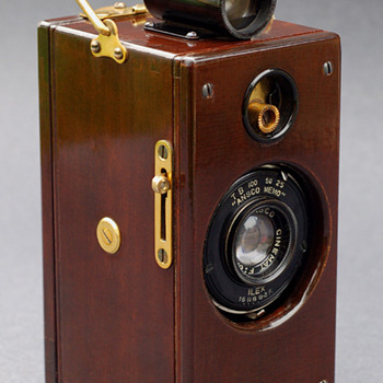 "Ansco Memo ""wood & brass"" - Cameras"