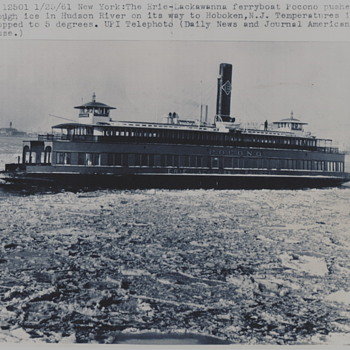 "Erie-Lackawanna Railroad Ferryboat ""Pocono"" 1960 - Railroadiana"