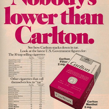 1976 - Carlton Cigarettes Advertisement - Advertising