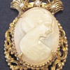 Florenza Carved Conch Shell Cameo Brooch