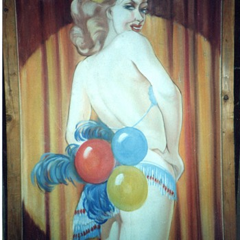Old Sideshow/Peepshow Original Painting