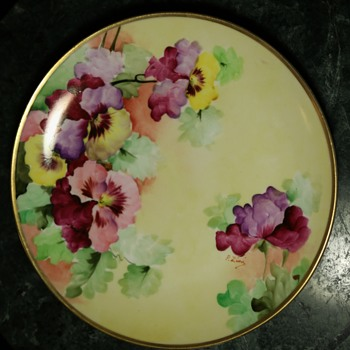 Handpainted Richard Ginori Plate - Italy - Art Pottery