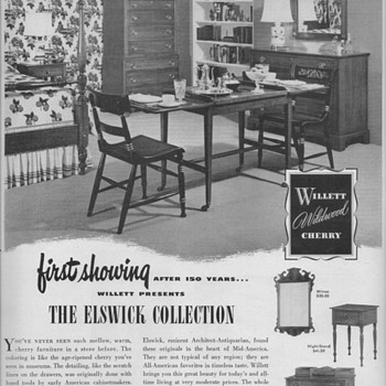 1950 Willett Furniture Advertisement - Advertising