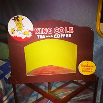 Vintage King Cole Tea Store Display