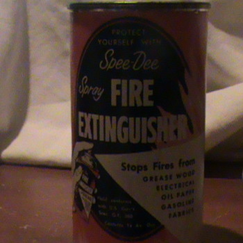 Spee-Dee Spray Fire Extinguisher