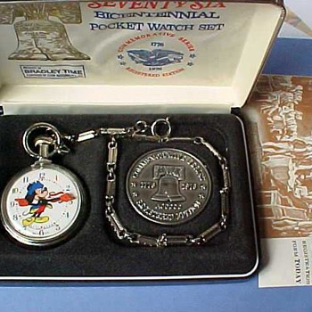 1976 Bradley Bi-Centinal Mickey - Pocket Watches