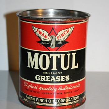 motul grease can - Petroliana