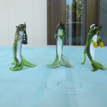 Musical Sharks - Art Glass