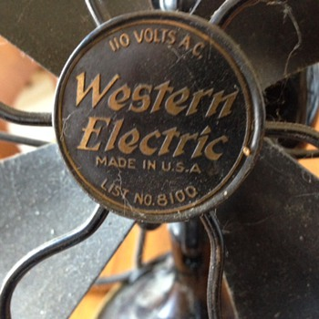 Western Electric Fan - Tools and Hardware