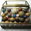 Antique Hand Made Clay Marbles