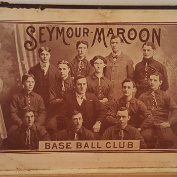 1899/1901 Seymour Maroon Baseball Club Meets Cigar Box - Best of Both Worlds for Collectors - Tobacciana
