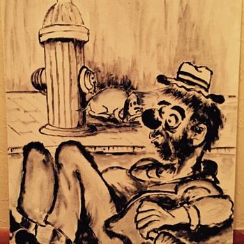 Clown painting  - Visual Art