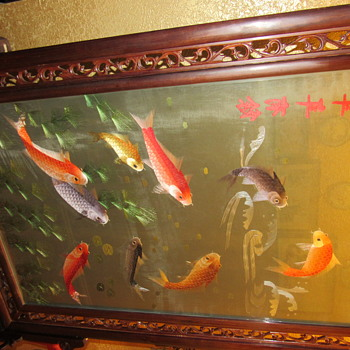 Chinese/ Asian Koi floor screen