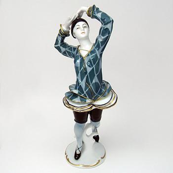 Karl Ens Volkstedt Porcelain Dancer, Jester