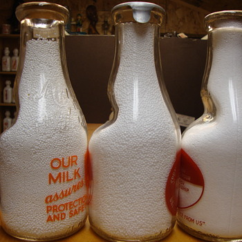 "Cream Seperator ""dent"" Milk Bottles....."