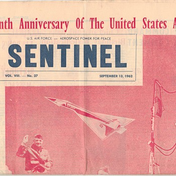 1962 - U.S. Air Force Sentinel Newspaper - Military and Wartime