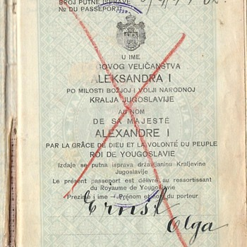Yugoslavian passport used during WWII - Paper