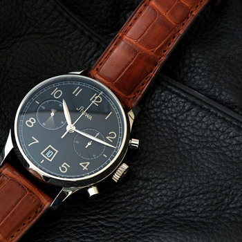 Stowa 1938 Chronograph Black Dial -UPDATE - Wristwatches