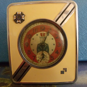 Art Deco Pocket Watch Stand... VFW Auxiliary  - Pocket Watches