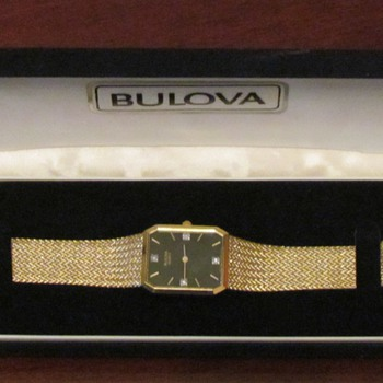 1980 Gold Bulova Watch - Wristwatches