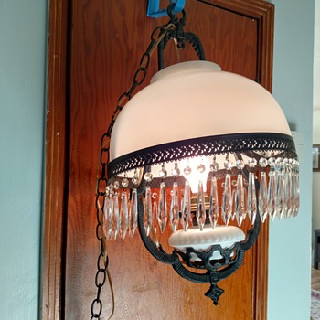 Hanging lamp - possibly Victorian