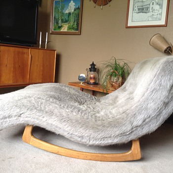 1955  Adrian Pearsall Wave Chaise Rocker