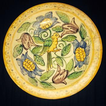 Manises Espana pottery Plate/Bowl