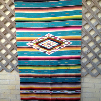 Blanket of unknown origin. Quite Vintage. What is it?  And is it worth keeping?? - Native American