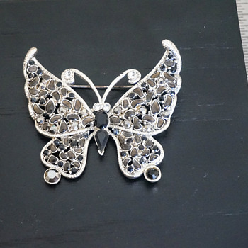 Costume Jewelry Butterfly Brooch
