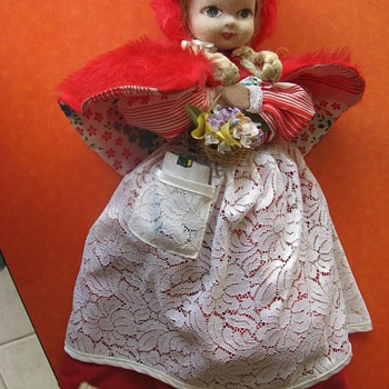 Handmade Red Riding Hood Flip Doll
