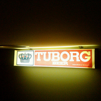 Tuborg beer lighted sign