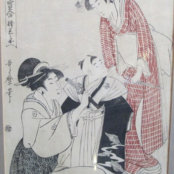 Utamaro Japanese Woodblock Prints - Asian