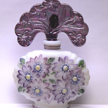 Fenton - Violet Asters Bottle - New Century Collection XXI